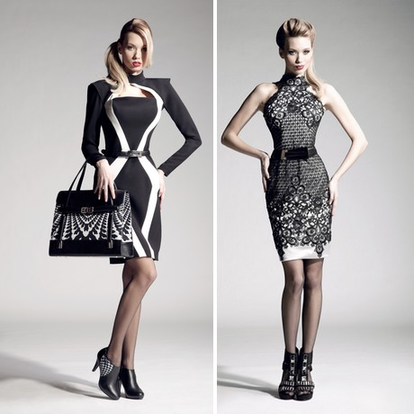 553610980cb7 Neméně krásná je také nová kolekce koktejlových šatů  například pudrové  koktejlky s vyšívanou tmavou plastickou krajkou (v naší fotogalerii) či  obdobně ...