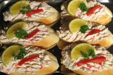 Humrové chlebíčky bez humra